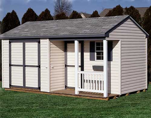 Amish Shed - Cottage with Porch